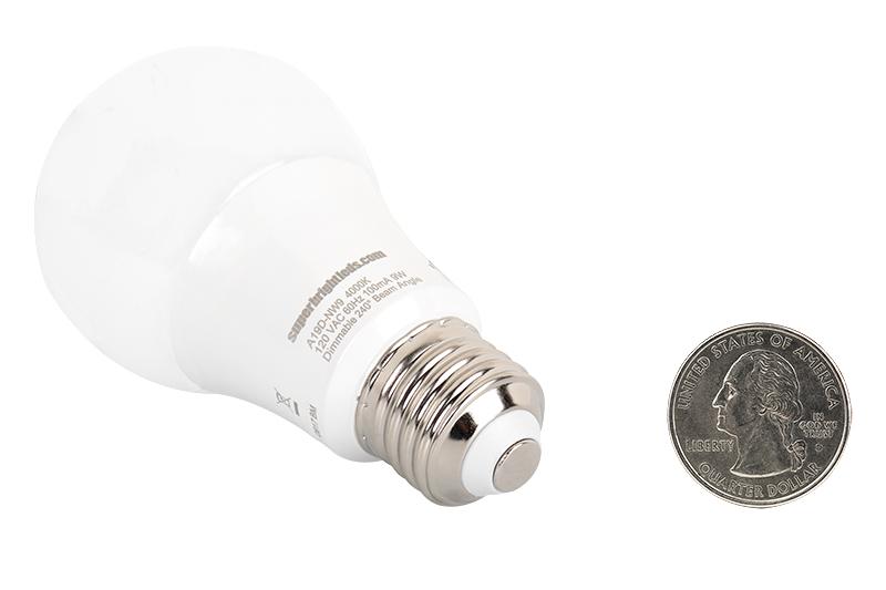 gu24 led bulb 90 watt equivalent dimmable a19 bulb 900 lumens back view with quarter comparison - Gu24 Led