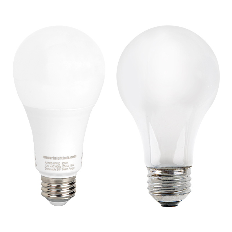 a21 led bulb 75 watt equivalent dimmable 1 100 lumens super bright leds. Black Bedroom Furniture Sets. Home Design Ideas