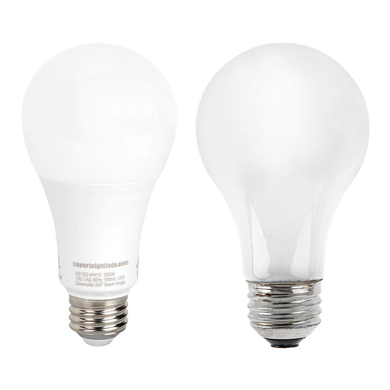 a21 led bulb 75 watt equivalent dimmable 1 100 lumens super bright leds. Black Bedroom Furniture Sets. Home Design Ideas