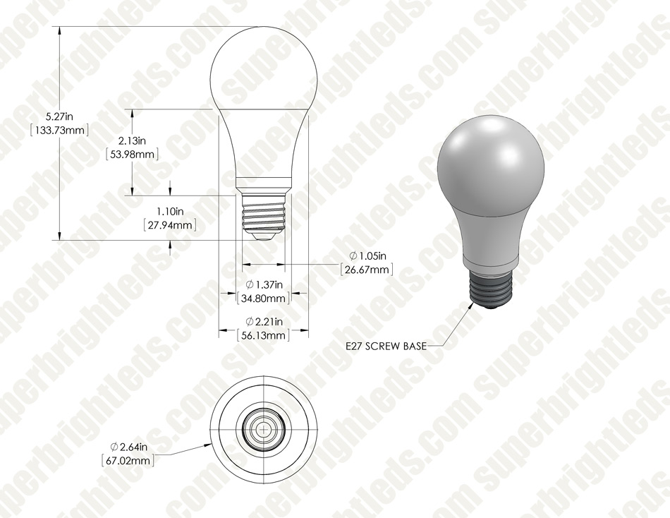 A21 LED Bulb - 110 Watt Equivalent - Dimmable - 1,100 Lumens