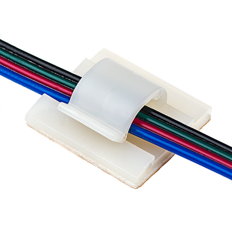 Adhesive Backed Wire Clamp - Natural   Super Bright LEDs