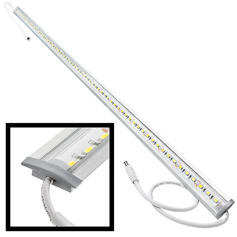 Aluminum led light bar fixture flush mount aluminum for Bar fixtures