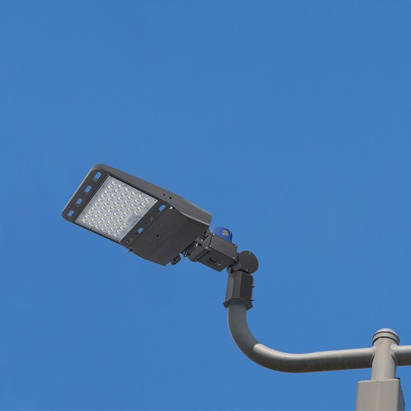 100w Led Parking Lot Shoebox Area Light W Photocell 14 000 Lumens 250w Metal Halide Equivalent 5000k Knuckle Slipfitter Mount