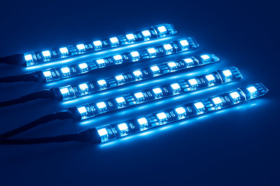 Underglow LED Lighting Kit Multi Strip Remote Activated RGB Color Changing