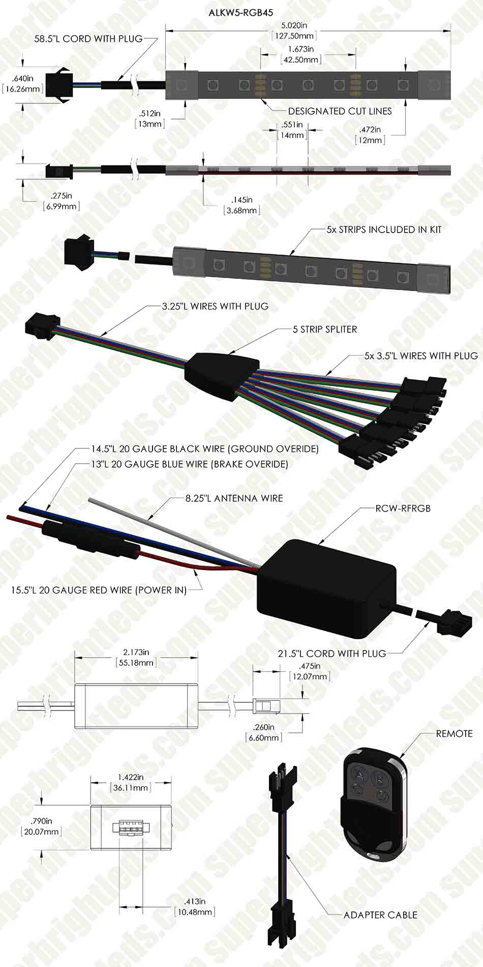 atv  u0026 utv led lighting kit