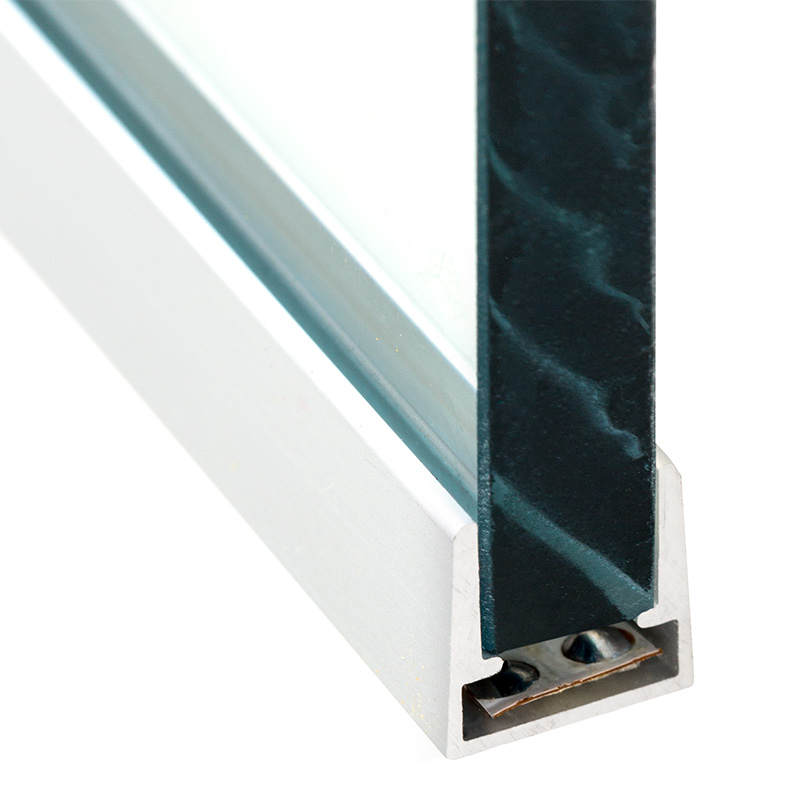 Aluminum Led Profile Housing For 8mm Glass Anodized
