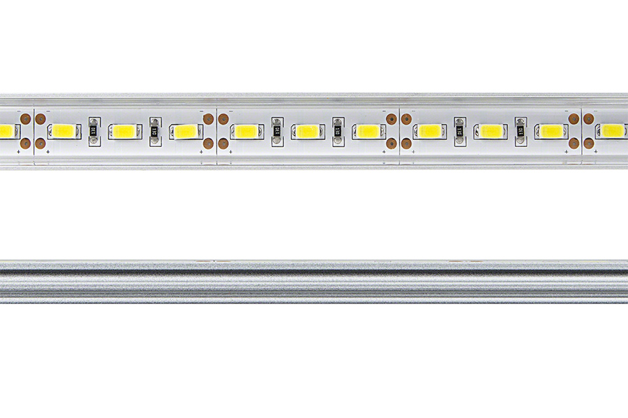 Aluminum led light bar fixture low profile surface mount for Bar fixtures