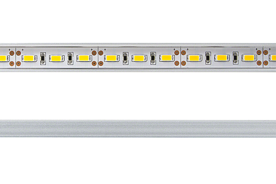 Aluminum led light bar fixture low profile aluminum for Bar fixtures