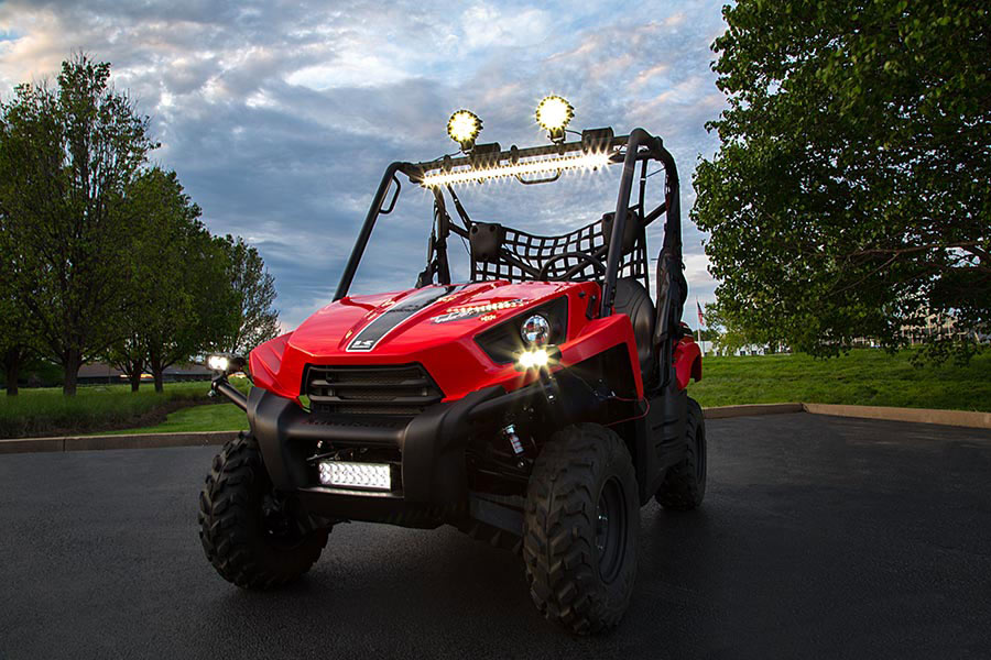 30 off road led light bar 90w 7200 lumens led light bars 30 inch 90 watt off road led light bar with combo beam attached to top of atv utv mozeypictures Choice Image