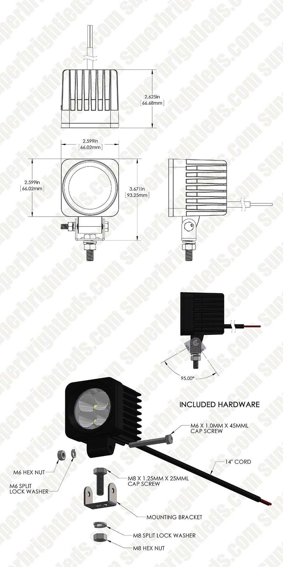 aux 12w s30 assembly digimark led boat light 2\