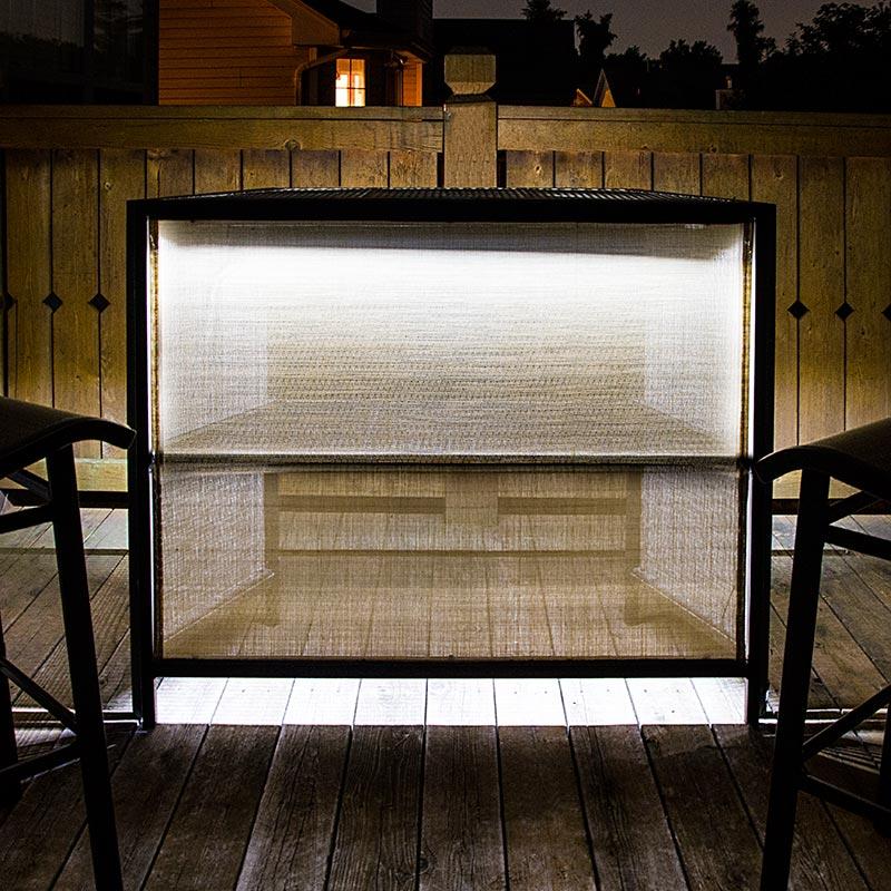 Weatherproof Linear Led Light Bar Fixture 860 Lumens