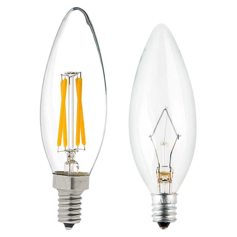 B10 led filament bulb 35 watt equivalent led candelabra bulb w blunt tip dimmable 350 Bulbs led