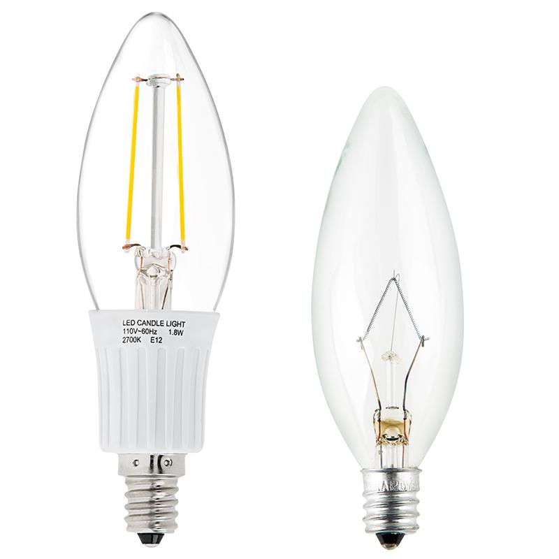 B10 Led Filament Bulb 25 Watt Equivalent Candelabra Led Bulb W Blunt Tip 250 Lumens