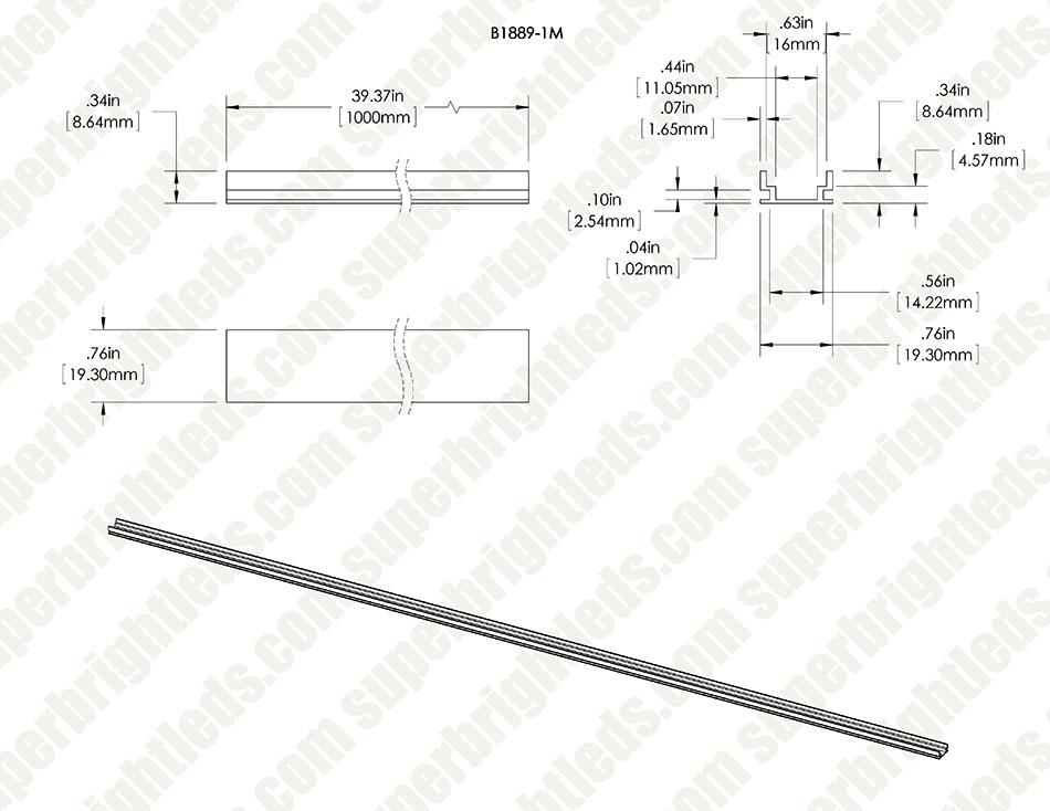 Heavy Duty Low Profile Aluminum Profile Housing For Led