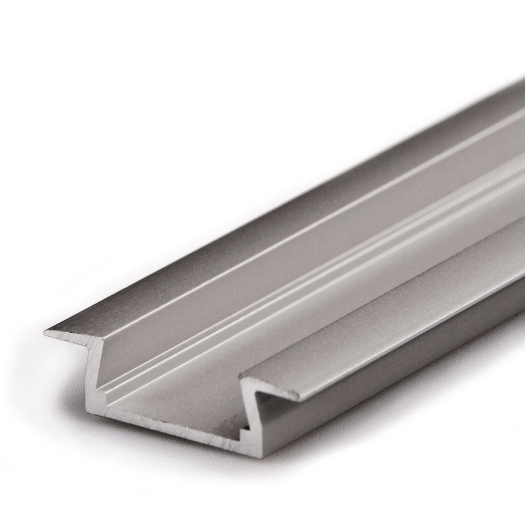flush mount aluminum profile housing for led strip lights klus micro k series led profile. Black Bedroom Furniture Sets. Home Design Ideas