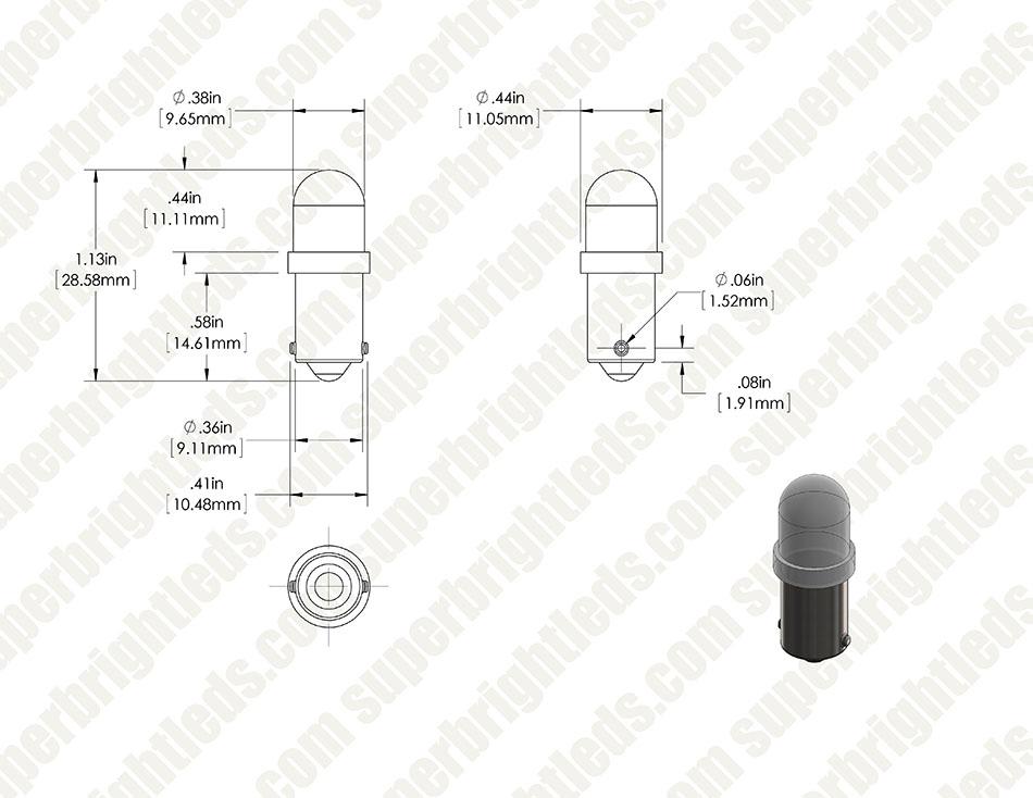 LED 27 StBA 9sl Lampada LED con socket ba9s