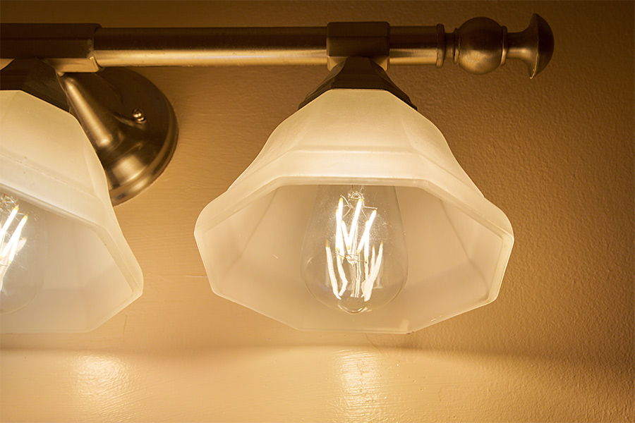 Bathroom Light Fixtures With Edison Bulbs st18 led filament bulb - 70 watt equivalent led vintage light bulb
