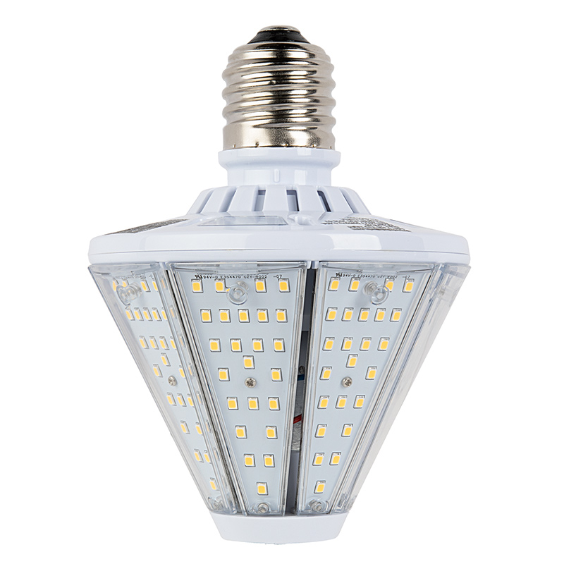 40w led post top corn bulb 4800 lumens 150w equivalent metal 40w led post top light 100w equivalent hid conversion e39e40 mogul base 4800 lumens 4000k3000k showing base attached to top of post light aloadofball Image collections