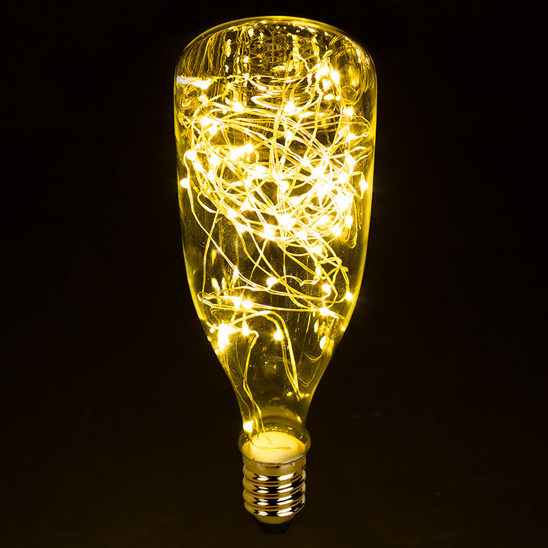 led bottle light bulbs w integrated led fairy lights 50 lumens