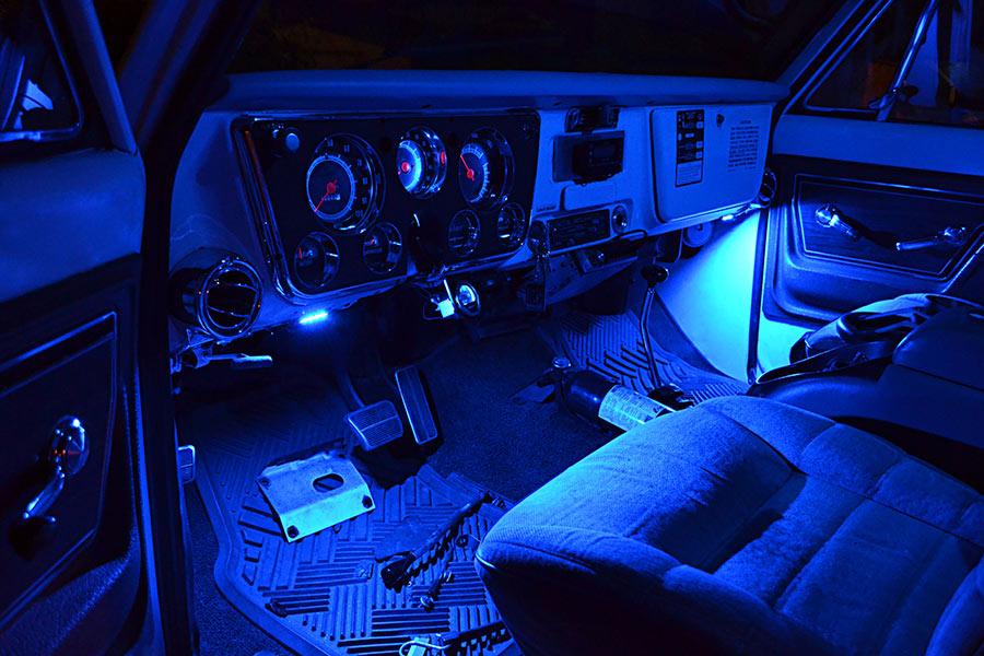 Blue Car Dash Floorboard Led Light on Dodge Ram Led Dash Lights
