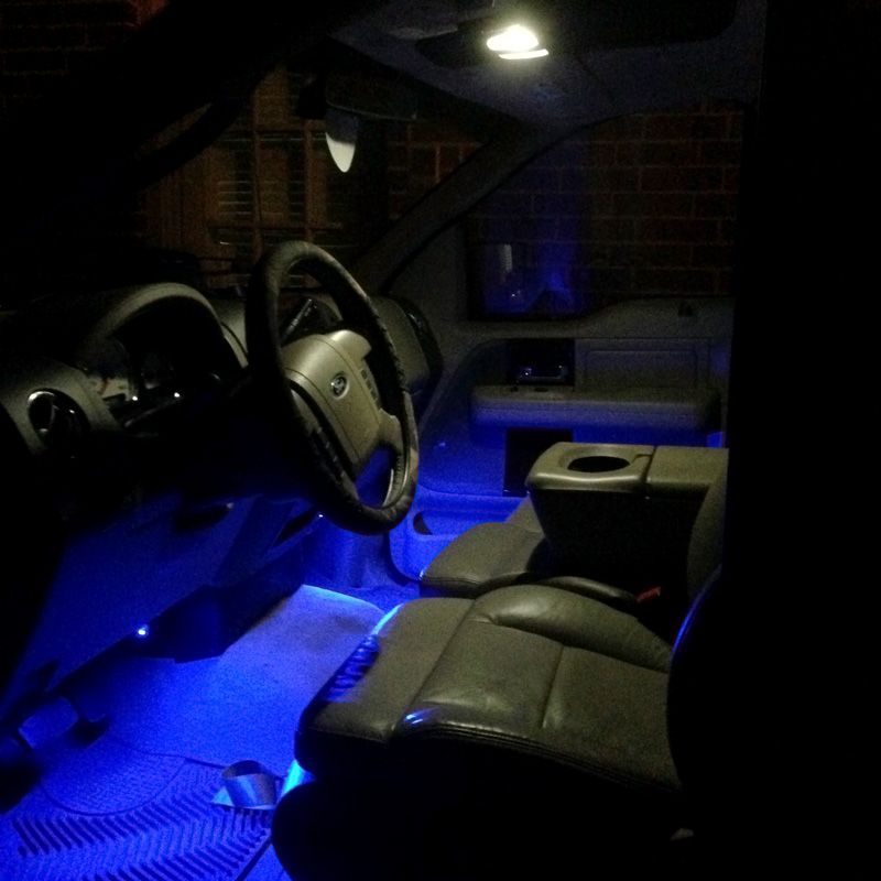 Led strip light reel 12v led tape light 101 64 lumensft full reel led flexible light strip 31m 101ft installed inside car under dash aloadofball Image collections