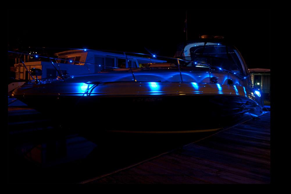 Custom Boat Headlights : Wired v dc led pack super bright leds