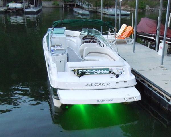 Underwater led light 6 watt super bright leds for Green boat and motor
