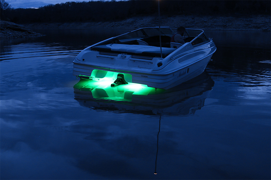 rgb led underwater boat lights and dock lights - single lens - 60w, Reel Combo
