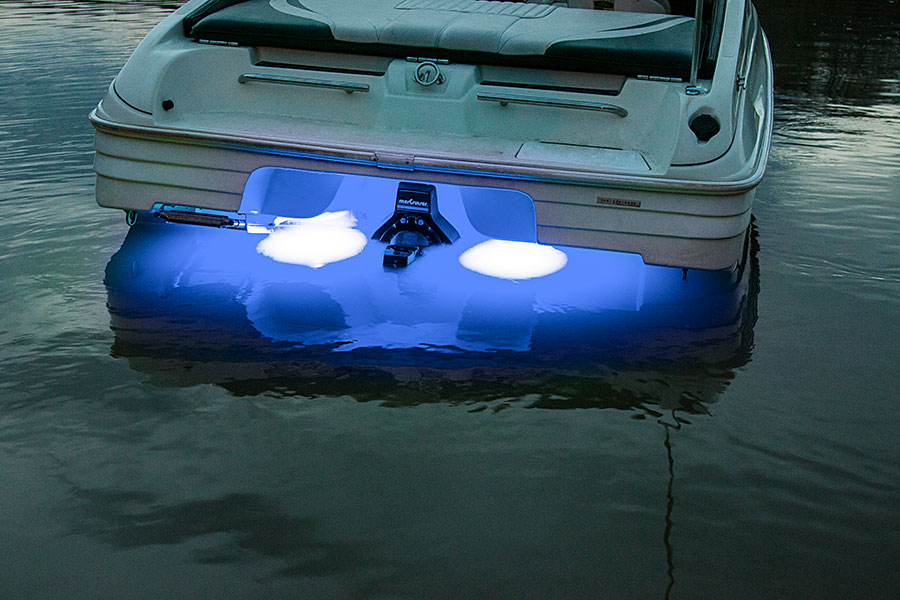 led underwater boat lights and dock lights - triple lens - 180w, Reel Combo