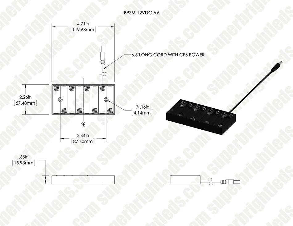 12v dc battery power supply