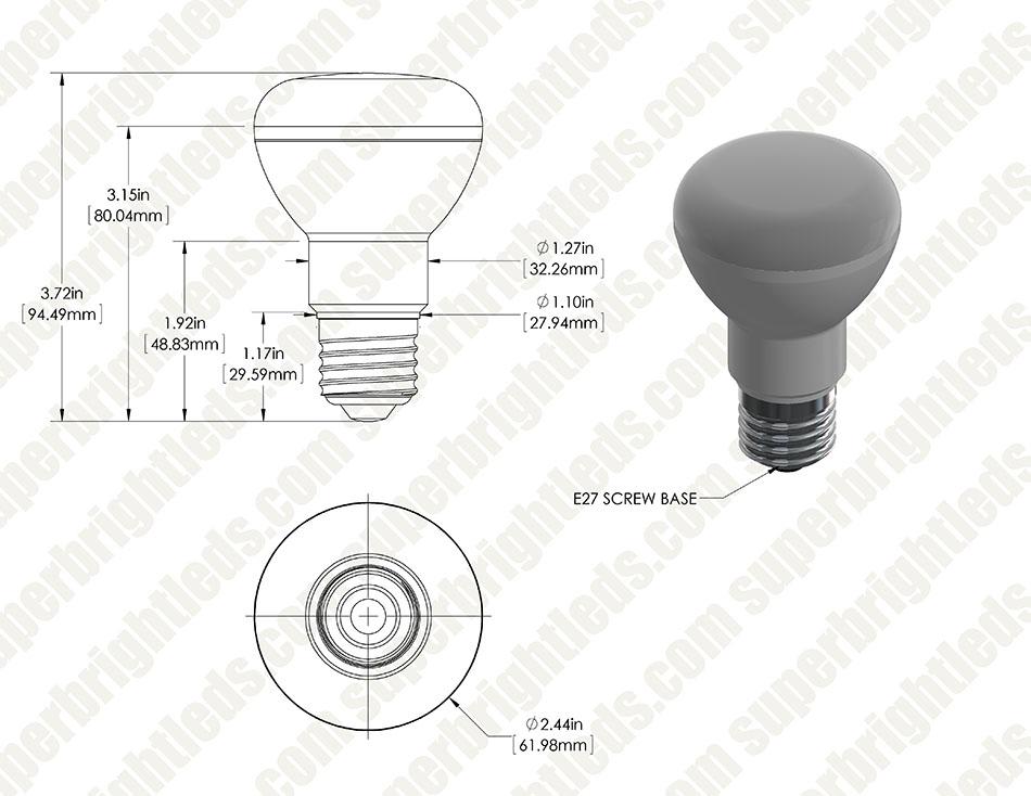 R20 Led Bulb 6 Watt Dimmable Led Flood Light Bulb 60
