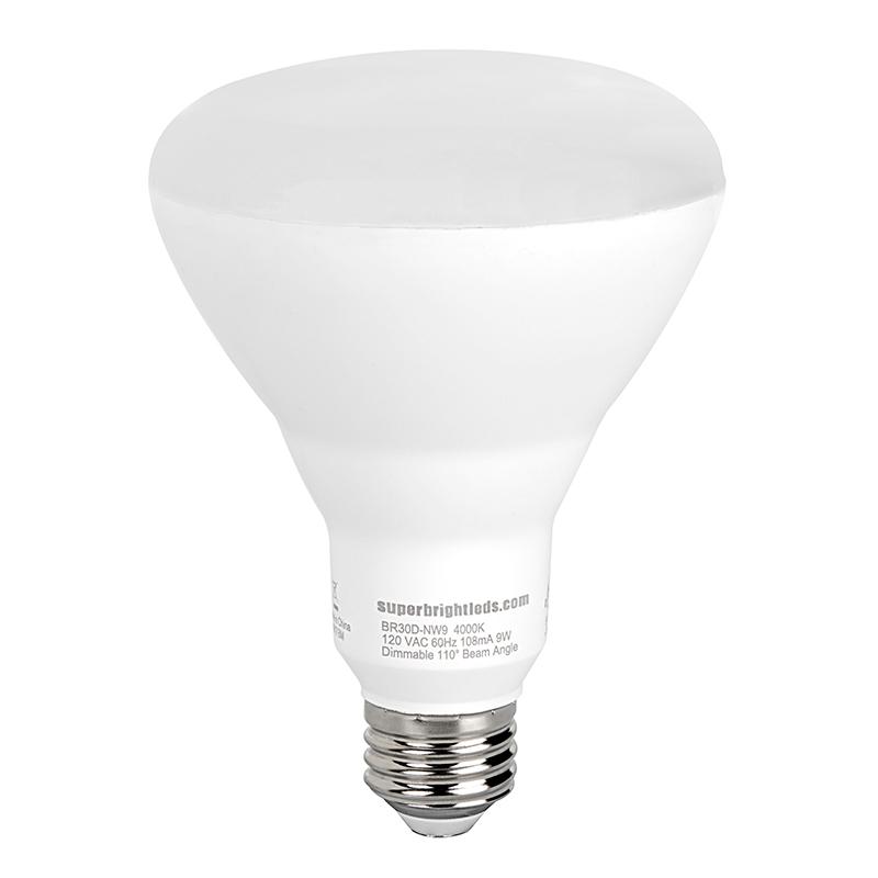 br30 led bulb 60 watt equivalent dimmable led flood light bulb 700 lumens super bright leds. Black Bedroom Furniture Sets. Home Design Ideas
