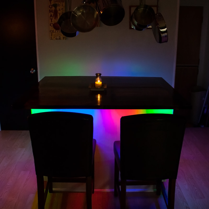 low voltage interior lighting kits%0A Color Chasing RGB LED Light Strip Kit  Flexible LED Tape Light with   SMD  LEDs ft     Chip RGB SMD LED       Installed Above Front Doors