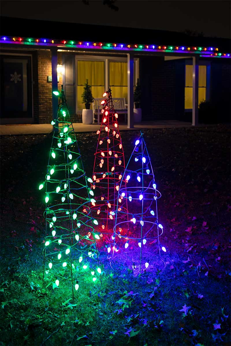 C7 Christmas Lights.C7 Christmas Led String Lights 17ft 25 Retro Faceted Bulbs Green Wire