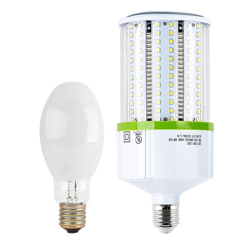 led corn light 390w equivalent incandescent conversion e26 e27 base 3 900 lumens. Black Bedroom Furniture Sets. Home Design Ideas