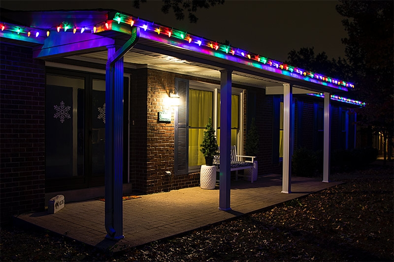 Christmas Led String Lights.C9 Multicolor Christmas Led String Lights 17ft 25 Retro Faceted Bulbs Green Wire