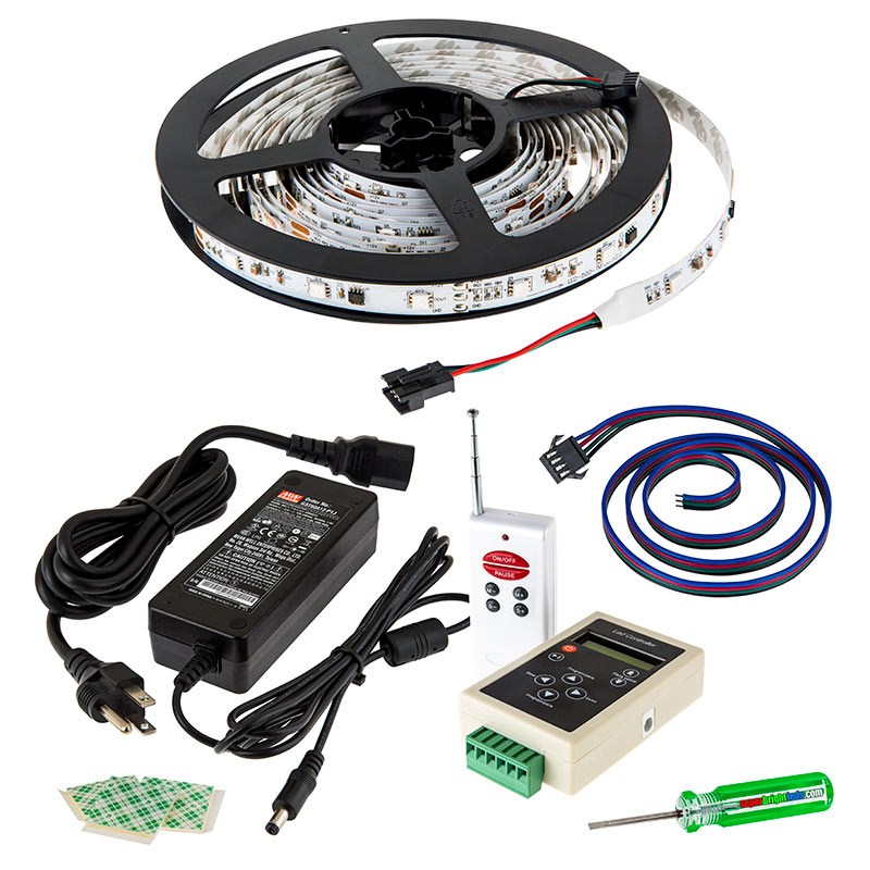 Rgb led strip light kit color chasing 12v led tape light 22 color chasing rgb led light strip kit flexible led tape light with 9 smd ledsft 3 chip rgb smd led 5050 all included parts aloadofball Gallery