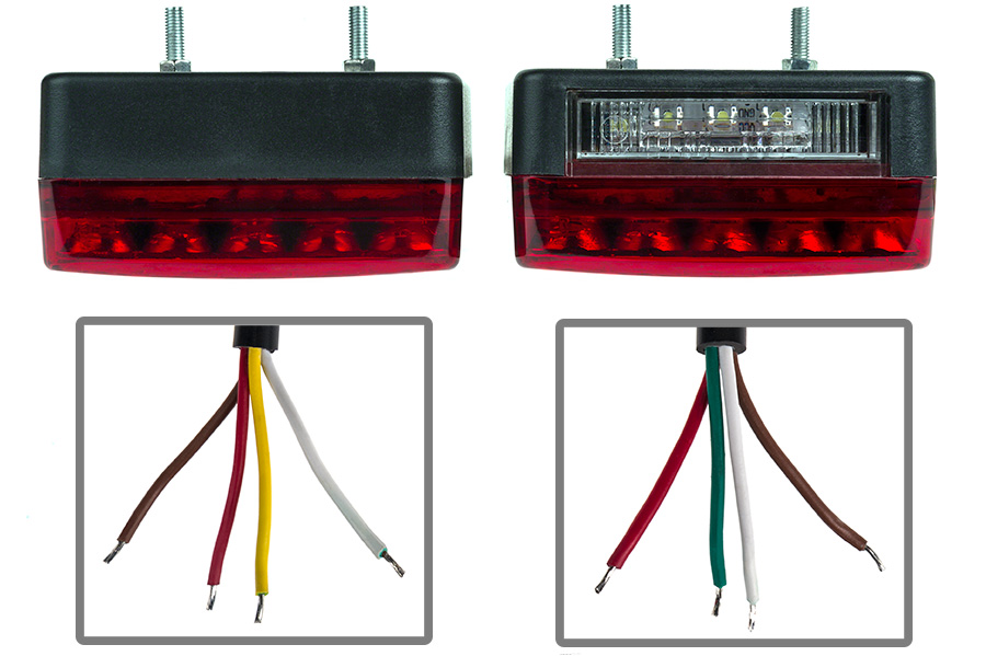 Combo led trailer light kit quot stop turn tail