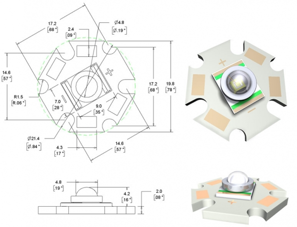 High power component LED diagram