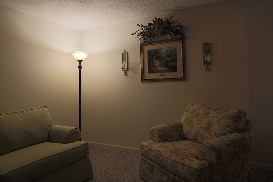 LED Corn Light   50W Equivalent Incandescent Conversion   E26/E27 Base    500 Lumens: Installed In Living Room In Warm White.