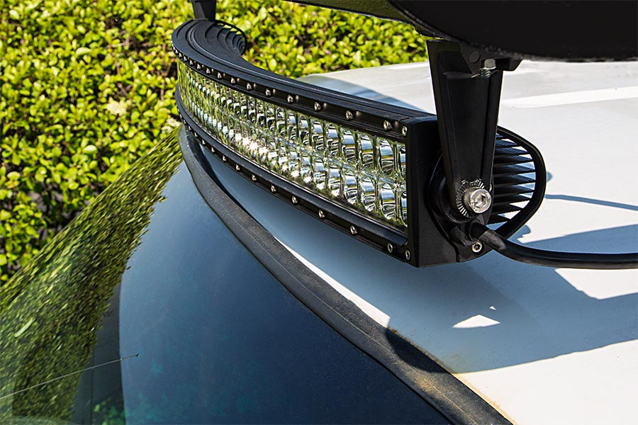 40 quot road curved led light bar 240w 19 200 lumens