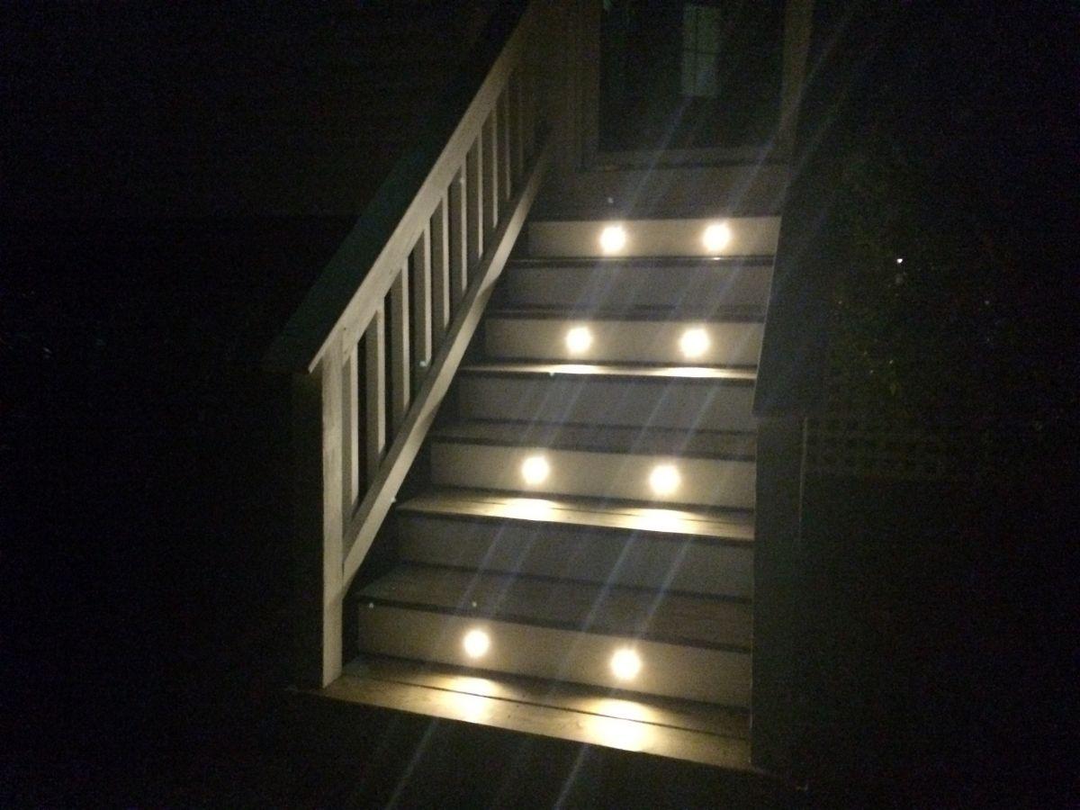 Lighting Basement Washroom Stairs: Mini Round Deck / Step Accent Light