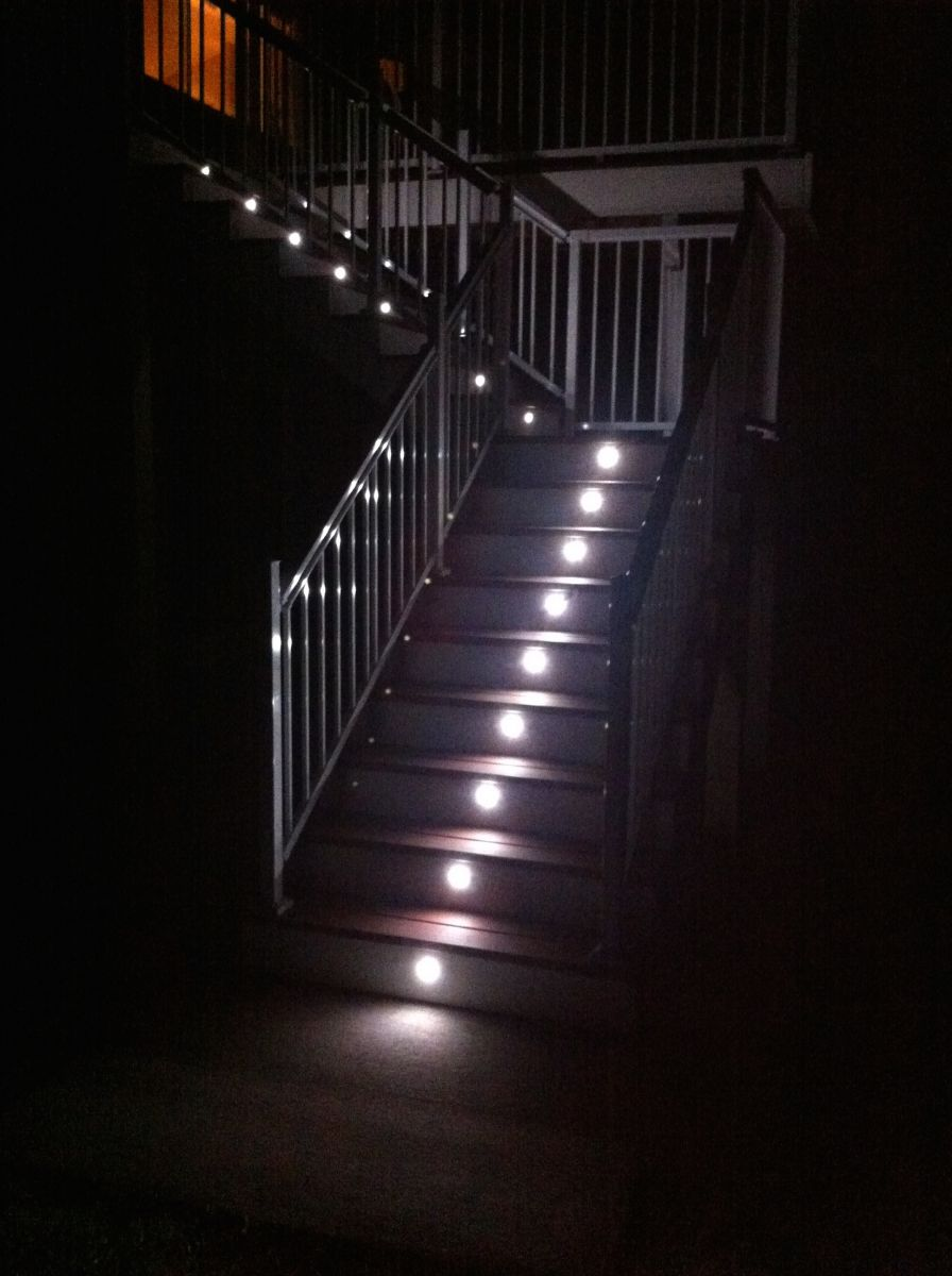 Lighting Basement Washroom Stairs: Face Plate For LED Step Light - Round Or Square