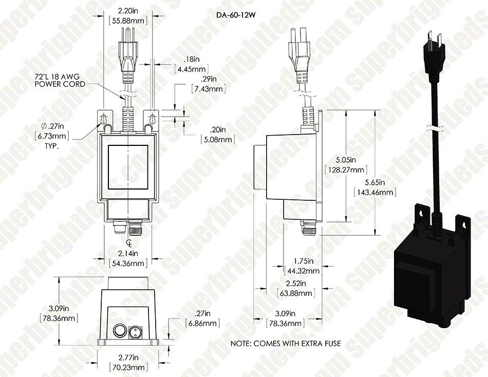 g-lux series 12v ac power supply