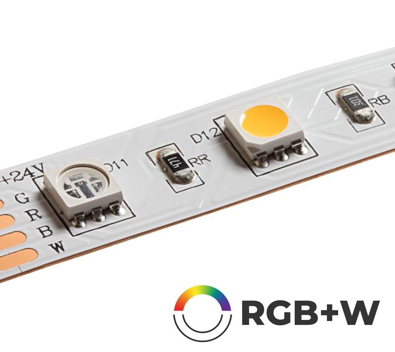 5m Rgb W Led Strip Light Color Changing Led Tape Light 12v 24v Ip20