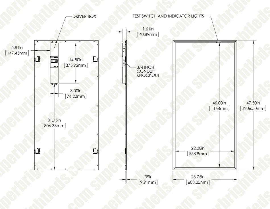 led panel light - 2x4 - 50w dimmable emergency battery backup - 5500 lumens  - 4000k