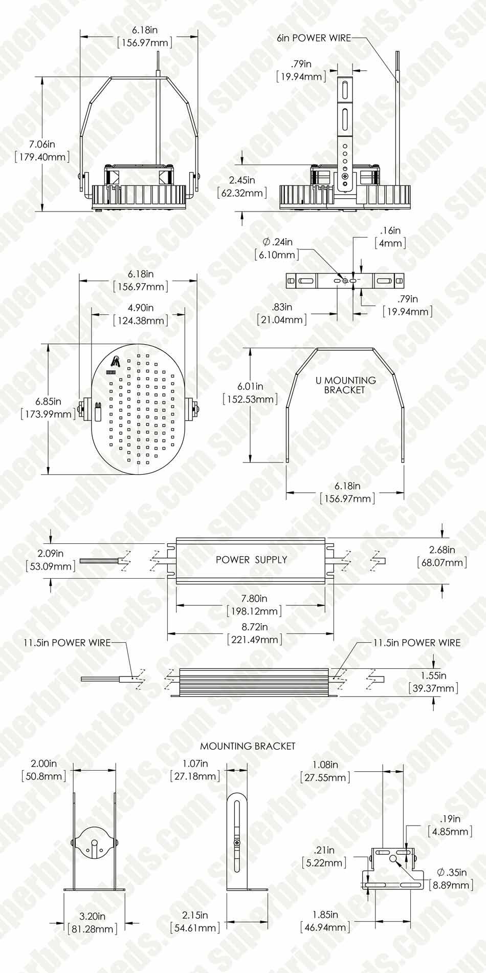 100w Led Retrofit Kit For 250w Metal Halide 12900 Lumens 5000k 480 Volt Wiring Diagram