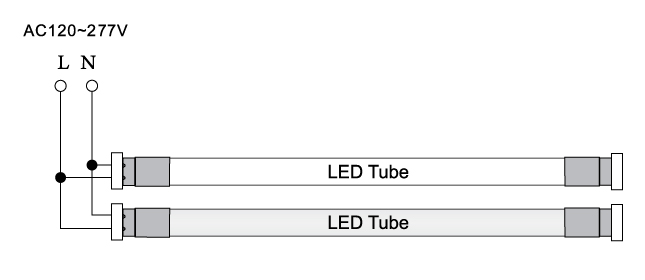 18w T8 Led Tube - 2 000 Lumens - 4ft