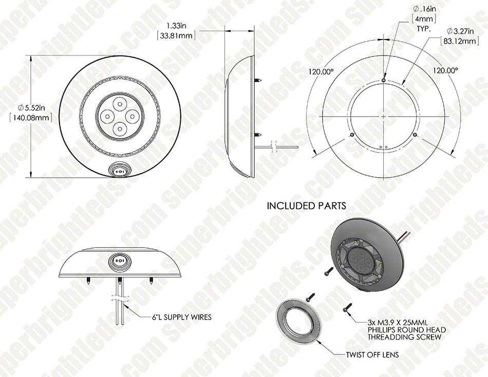 5 5 u0026quot  round led dome light fixture