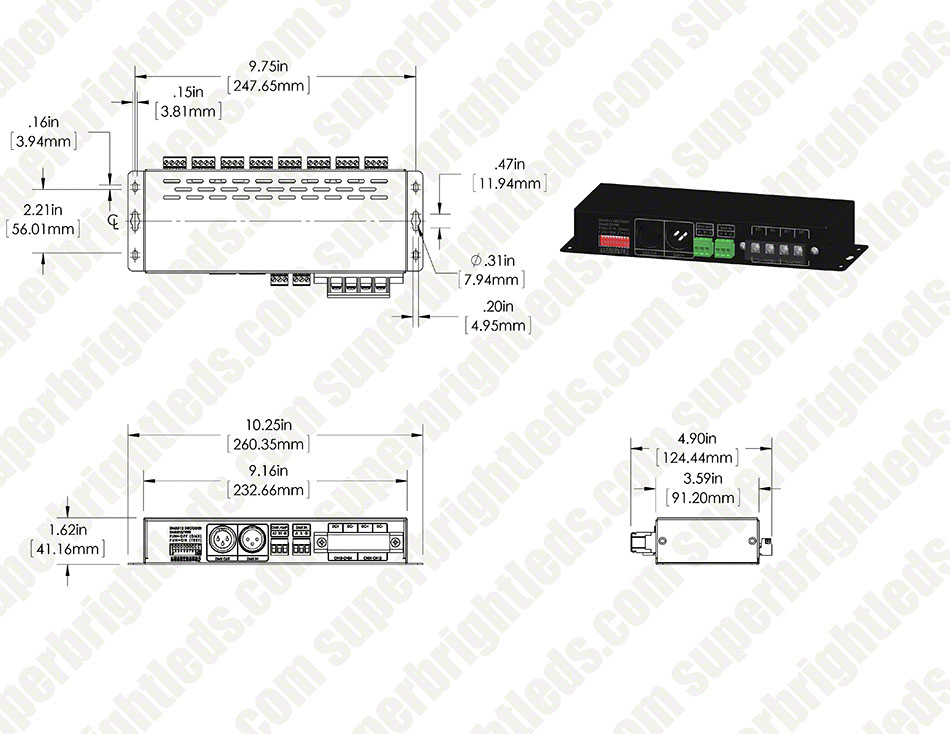 DMX-24CH-LV 24 Channel LED DMX Controller/Decoder